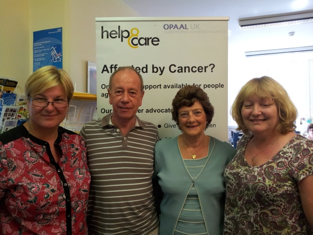 Kath with volunteer advocates Bob Smith, Marion Summers and Maddy Smith