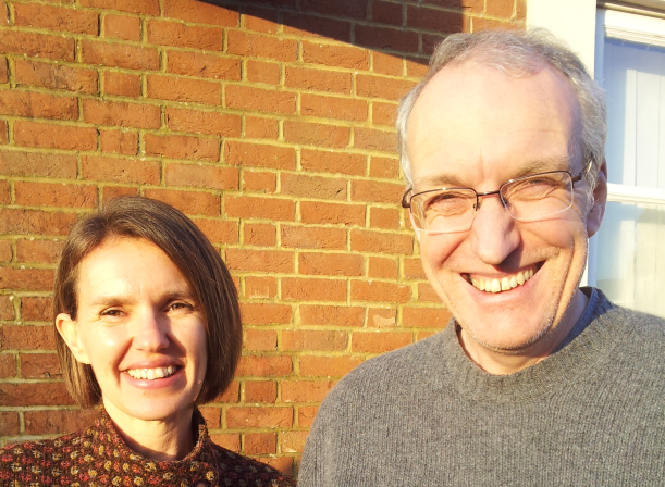 A delighted Keri Harrison from Help & Care and Mike Pochin from Dorset Advocacy