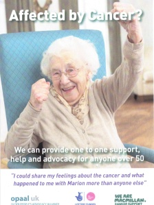 Cancer, Older People and Advocacy service leaflet