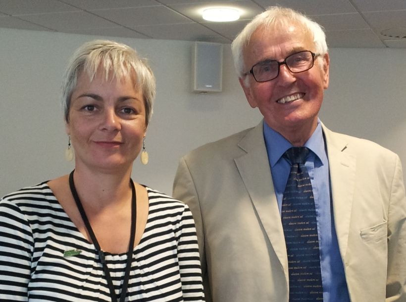 Kathleen Gillett and Professor Colin Pritchard