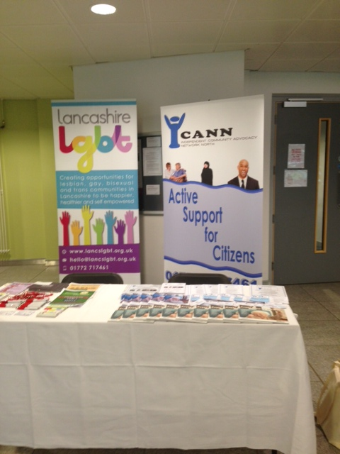 Display from recent awareness event (Health and Wellbeing event in West Lancashire at Edgehill University)