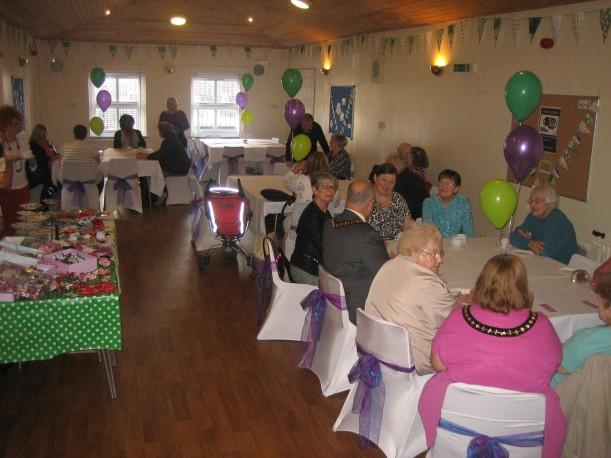 Sandwell Irish Community Association venue, the Mayor and consort mingle