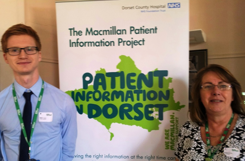 L-R Sam Taylor, Macmillan Information Project Navigator, Jane Simkin, Macmillan Information Project Lead