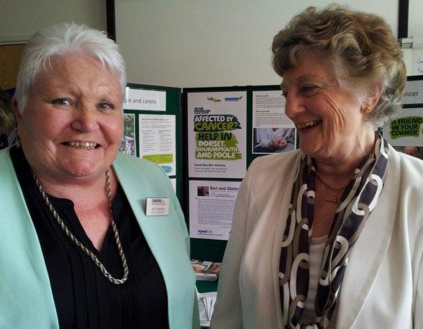 L-R Pat Vinycomb, Ambassador - Carers UK and Marion Summers, volunteer advocate - Dorset Macmillan Advocacy