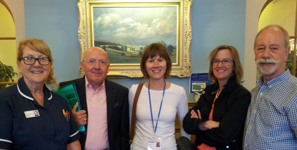 Steering group visit Joseph Weld Hospice